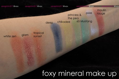 Foxyminerals swatches